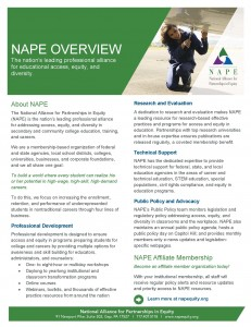 NAPE Overview Information Sheet Final 5 21 14 231x300 Mission