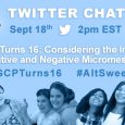 "Join us September 18th @ 2pm EST as we co-host a Twitter Chat with National Girls Collaborative Project titled ""#AltSweet16: Girls in STEM and the Power of Micromessaging"". #NGCPTurns16, #AltSweet16, […]"